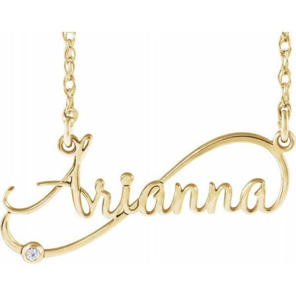 Colier Personalizat Arianna cu Diamant