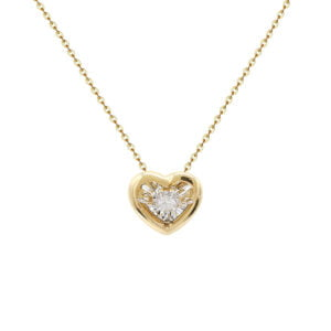 Pandantiv cu diamant miscator aur galben