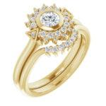 Inel Logodna Aur Galben si Diamante Accent magazin bijuterii