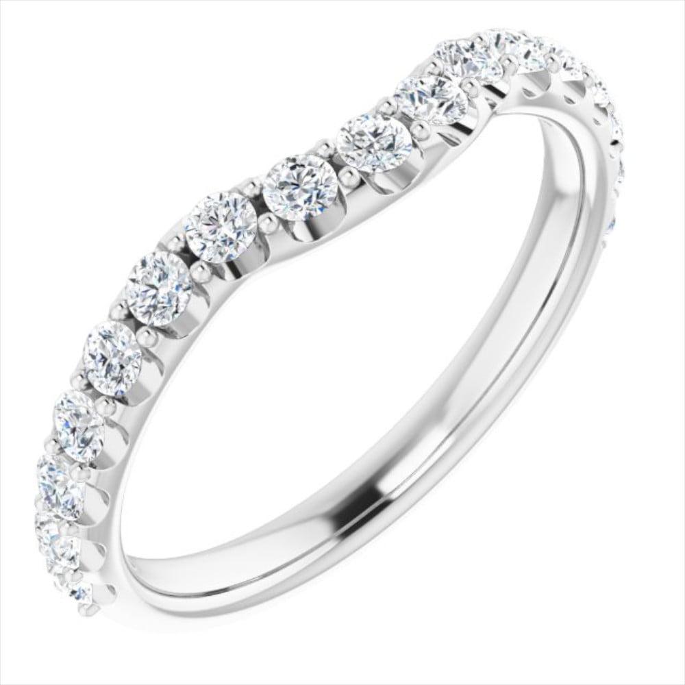 Verigheta Dama Aur Alb Contur Queen 0.50ct Diamante bijuterii online