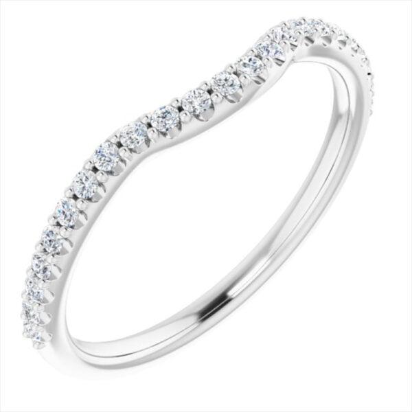 Verigheta Dama Aur Alb Banda Contur Queen cu Diamante bijuterii