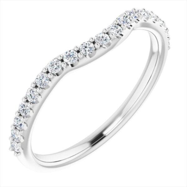 Verigheta Dama Aur Alb Contur Queen cu Diamante bijuterii