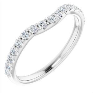 Verigheta Dama Aur Alb Contur Queen 0.33ct Diamante bijuterii online