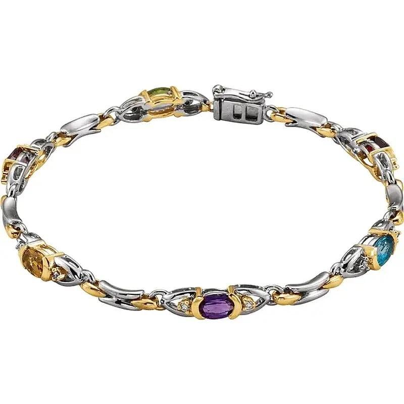 Bratara Aur Diamante si Multe Pietre Semipretioase bijuterii