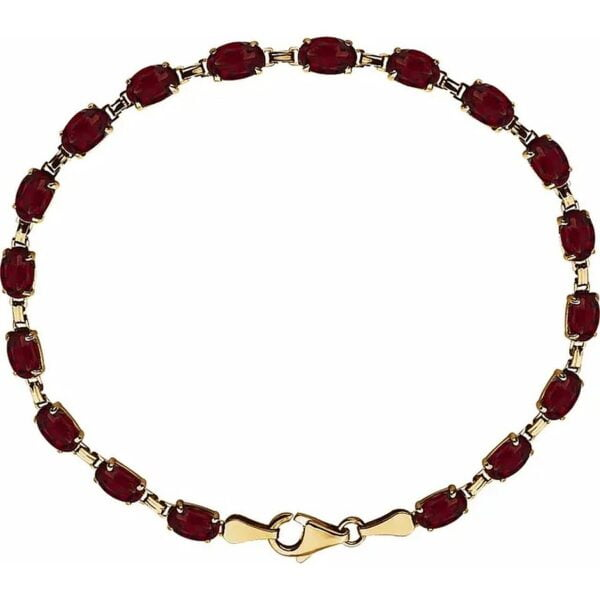 Bratara Aur Galben Garnet Mozambic Natural bijuterii