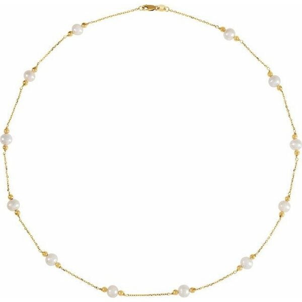 Colier Aur Galben cu Perle Naturale