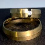 Verighete Aur Galben Conney cu Diamant