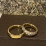 Verighetele Aur Exquisite cu Diamante