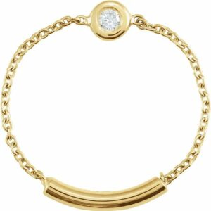 Inel Aur Galben Flexibil cu Diamant