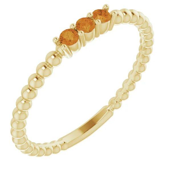 Inel Twig Citrin Aur Galben magazin bijuterii