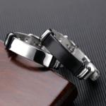 Bratara din otel inoxidabil argintiu si negru Flexibil Stil
