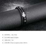 Bratara piele neagra Leather Chitara Mea magazin bijuterii online