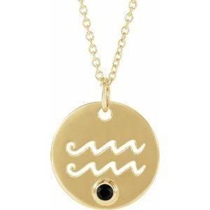 Pandantiv Zodiac Varsator Aur Galben cu Spinel bijuterii