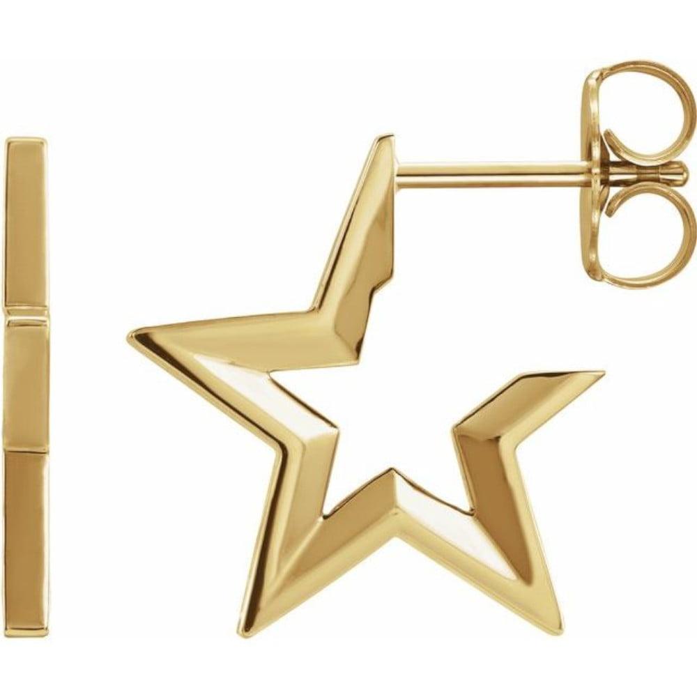 cercei starhoop Aur Galben bijuterii