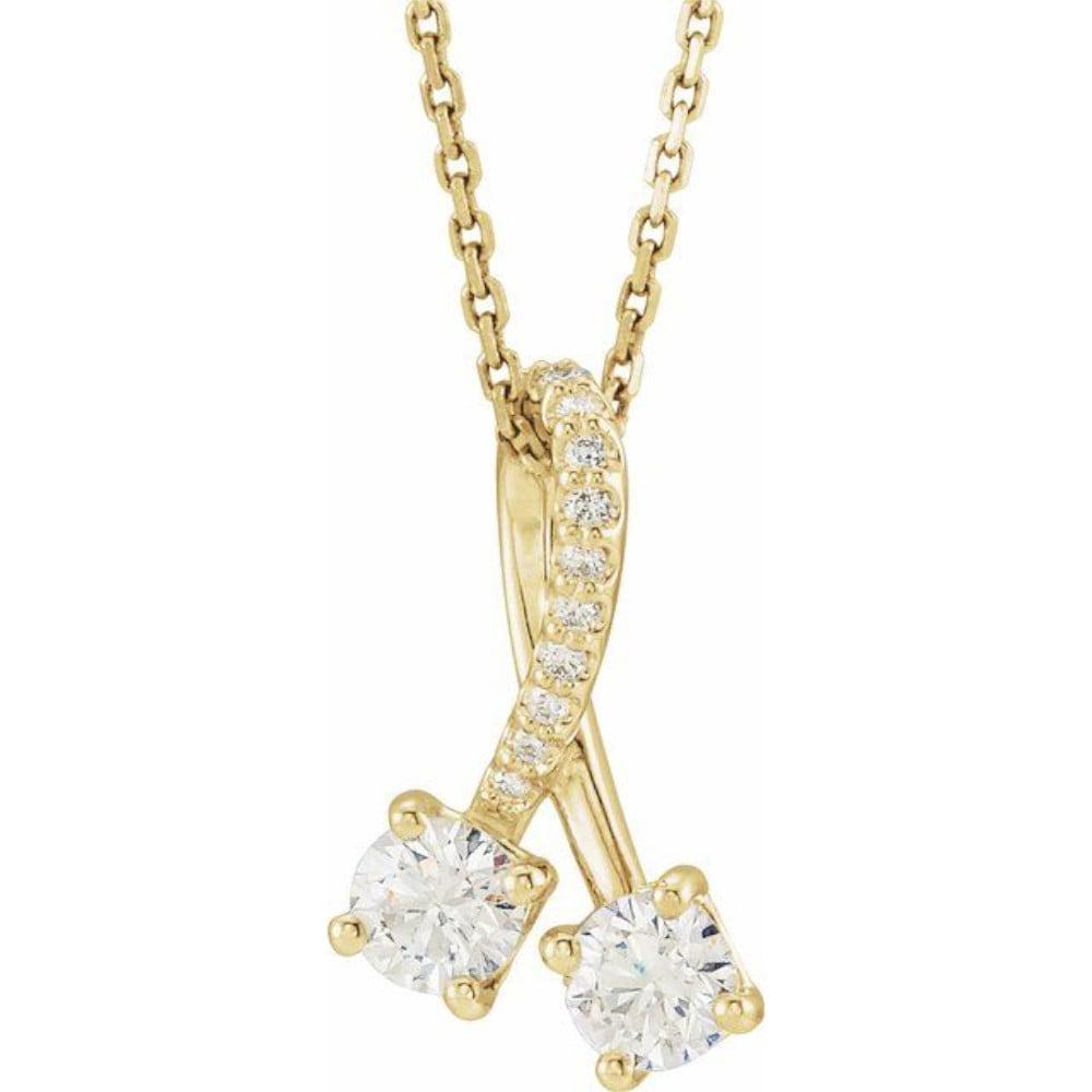 colier impreuna aur galben diamante moissainte