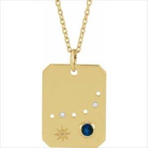 Pandantiv cu Zodie Capricorn Aur Galben bijuterii