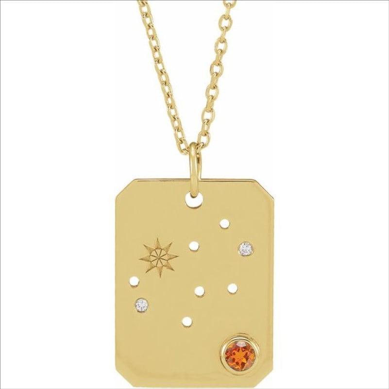 Pandantiv cu Zodie Fecioara Aur Galben bijuterii