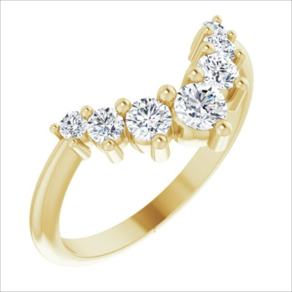Verigheta Aur Galben Contur 7 Diamante 0.50ct magazin