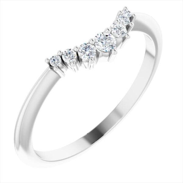 Verigheta Aur Alb Contur 7 Diamante bijuterii online