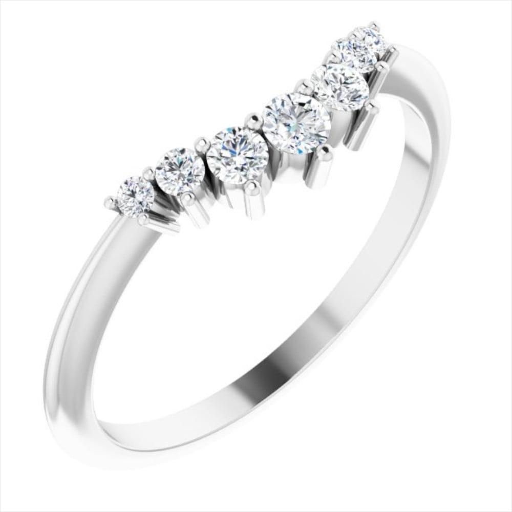 Verigheta Aur Alb Contur 7 Diamante 0.20ct
