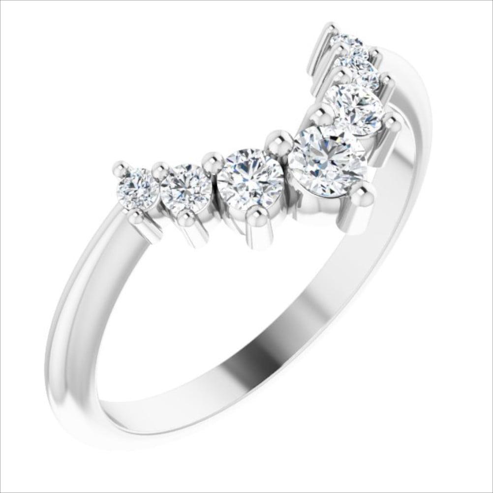 Verigheta Aur Alb Contur 7 Diamante 0.33ct bijuterii