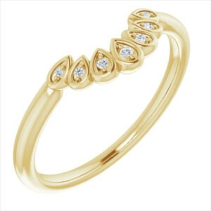Verigheta Aur Galben Contur Vintage 7 diamante bijuterii