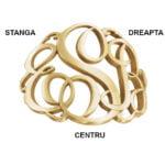 Monograma inel pozitie litere