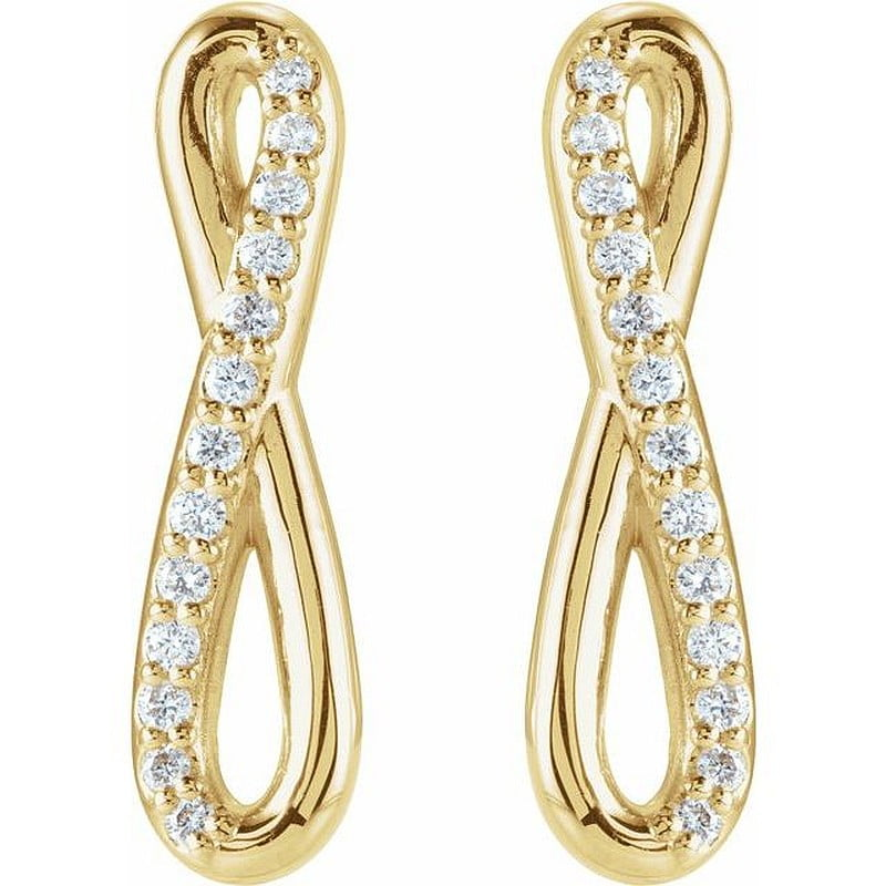 Cercei Aur Galben si Diamante Infinity