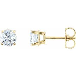 Cercei Diamante Aur Galben Platina
