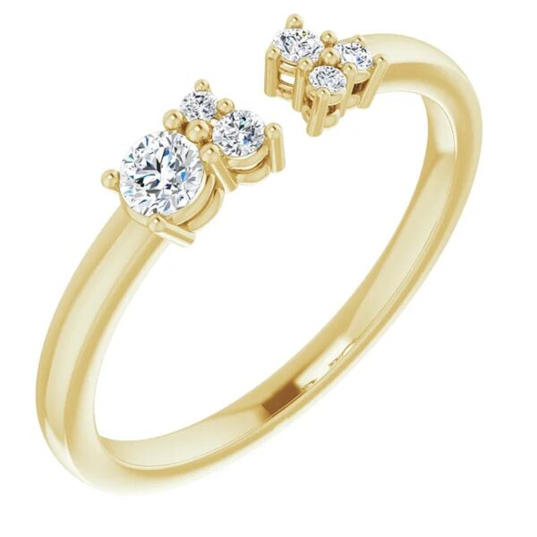 Inel Aur Galben 3 Diamante magazin bijuterii online