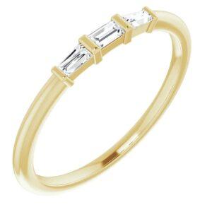 Inel Aur Galben Baghete Diamante bijuterii online