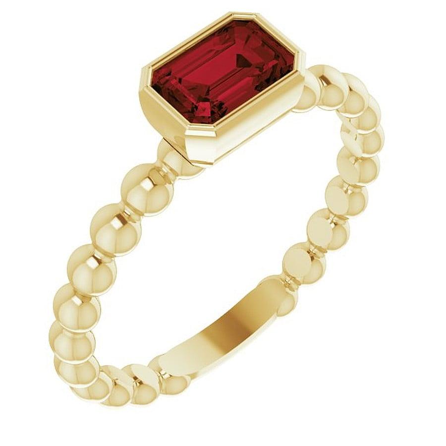Inel aur galben cu GARNET Natural Octo bijuterii personalizate