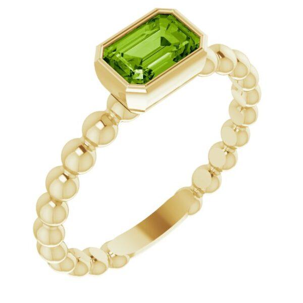 Inel aur galben cu Peridot Octo magazin bijuterii