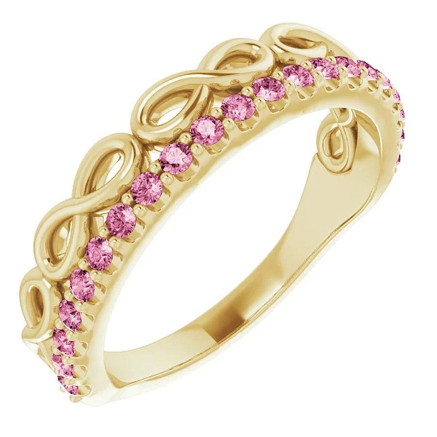 Inel Aur Galben Platina si TURMALINA dublu Infinity bijuterii online