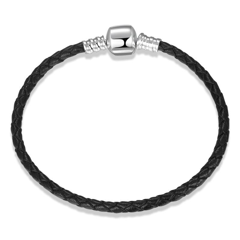Bratara Leather Neagra bijuterii