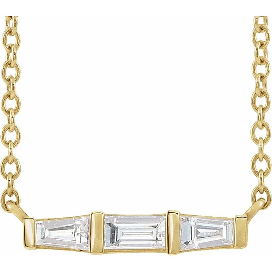 Pandant Aur Galben Baghete Diamante